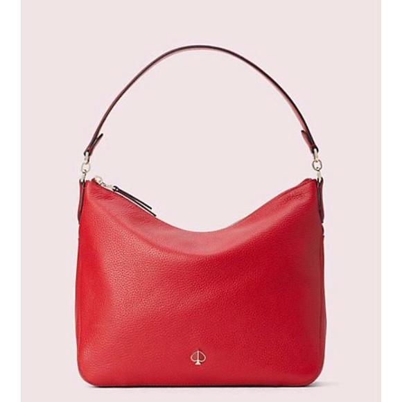 Kate Spade Polly Medium Red Convertible Bag NWT
